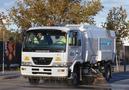 Car park sweeping - Scarab Merlin truck mount sweeper